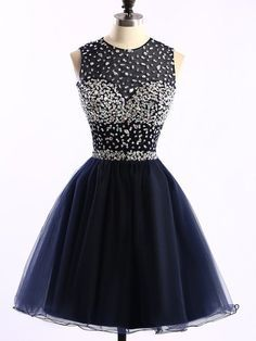 navy blue Homecoming Dress,Tulle Homecoming Dresses,Homecoming Gowns,Beaded Party#prom #party #evening #dress #dresses #gowns #cocktaildress #EveningDresses #promdresses #sweetheartdress #partydresses #QuinceaneraDresses #celebritydresses #2017PartyDresses #2017WeddingGowns #2017HomecomingDresses #LongPromGowns #blackPromDress #AppliquesPromDresses #CustomPromDresses #backless #sexy #mermaid #LongDresses #Fashion #Elegant #Luxury #Homecoming #CapSleeve #Handmade #beading