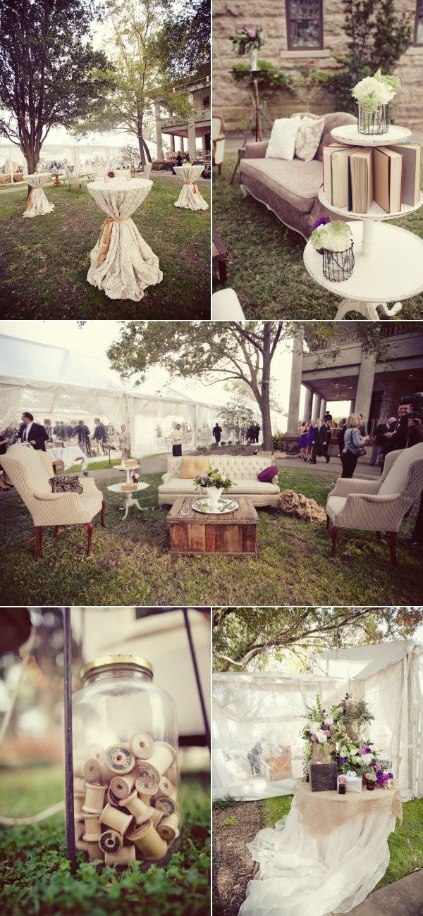 outdoor reception/cocktail hour