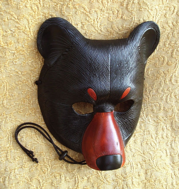 (Cheri's Blog: How to make Leather Leaf Jewelry and Mask) bear mask