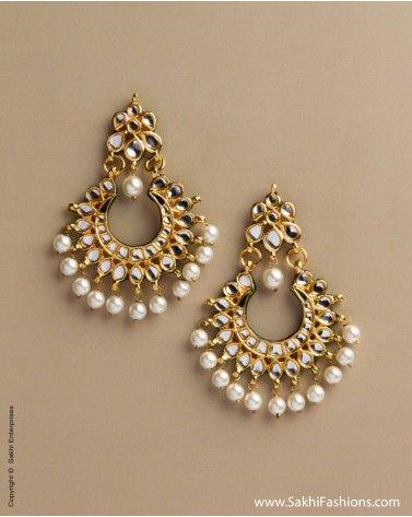 AD-0020 Kundan Earring, Sakhifashions, glaomour, indian fashion, trendy
