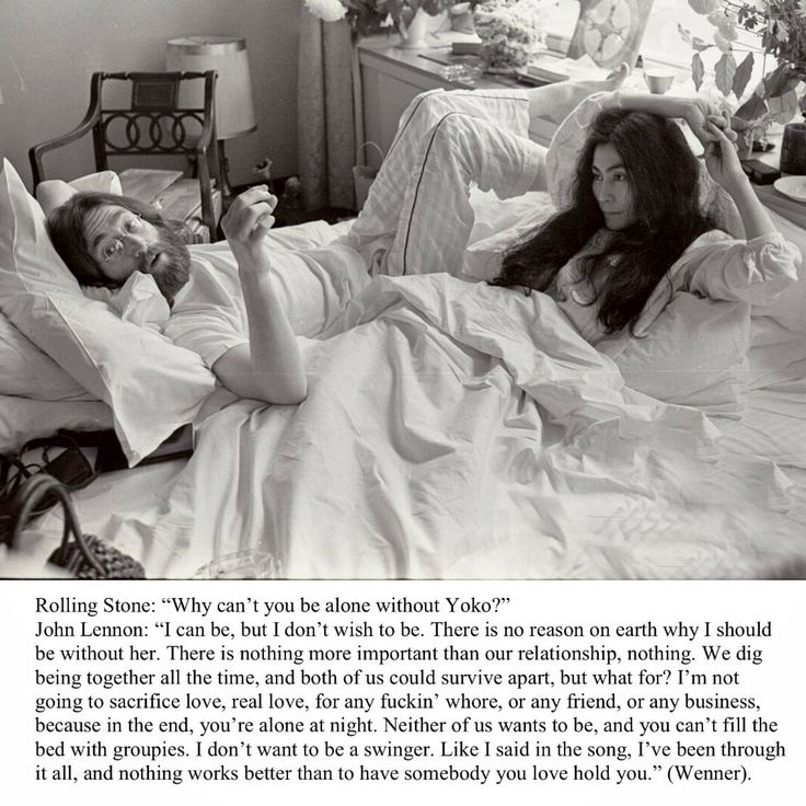 Rolling Stones magazine interview John Lennon on why he cannot be without Yoko Ono