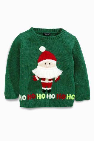 Buy Green Santa Jumper (3mths-6yrs) from the Next UK online shop