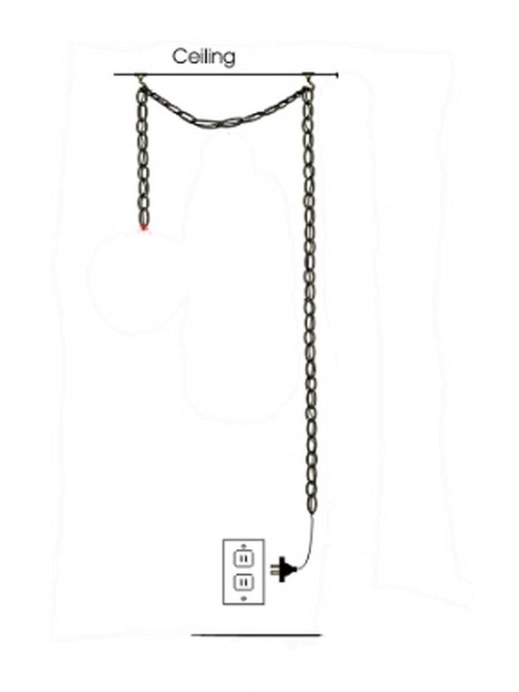 Upgradelights® Hanging Portable Swag Lamp Plug In White Burlap Light  Reading Lamp   Ceiling Pendant