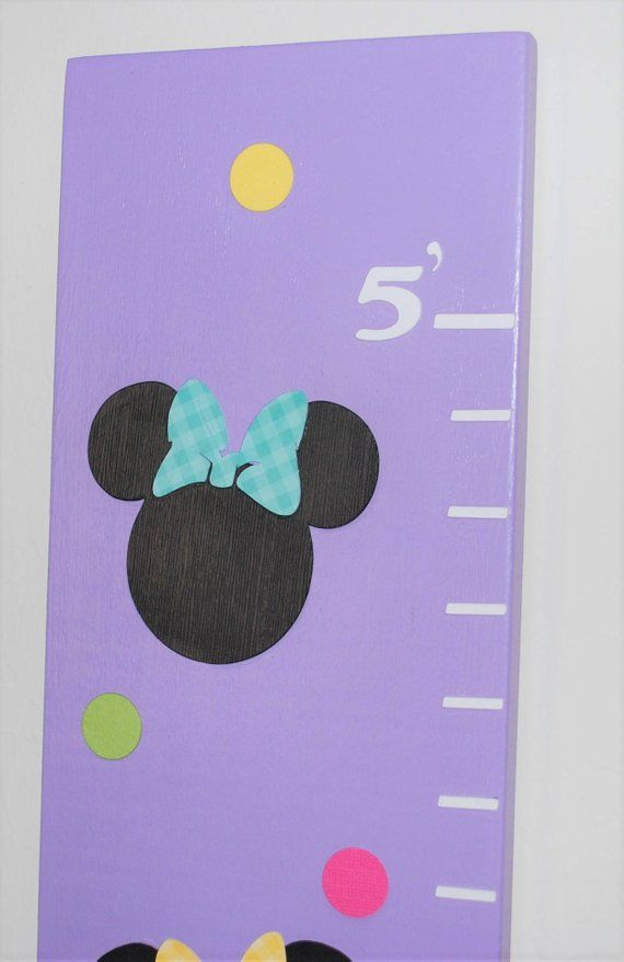 Minnie Mouse Growth Chart Minnie Mouse Height Chart Lavender