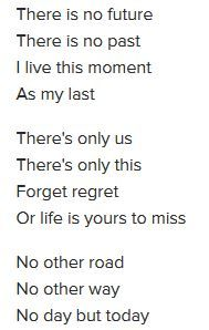 Lyric from Another Day (from the musical Rent)