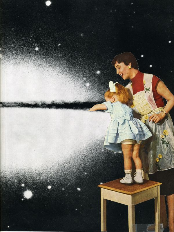 Paper, scissor & glue. Collage by Simone Cihlar.