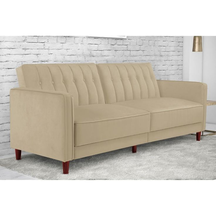 DHP Pin Tufted Transitional Convertible Futon - 2164359