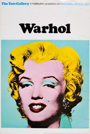 Warhol Marilyn Tate, 1971 - original vintage pop art exhibition poster by Andy…