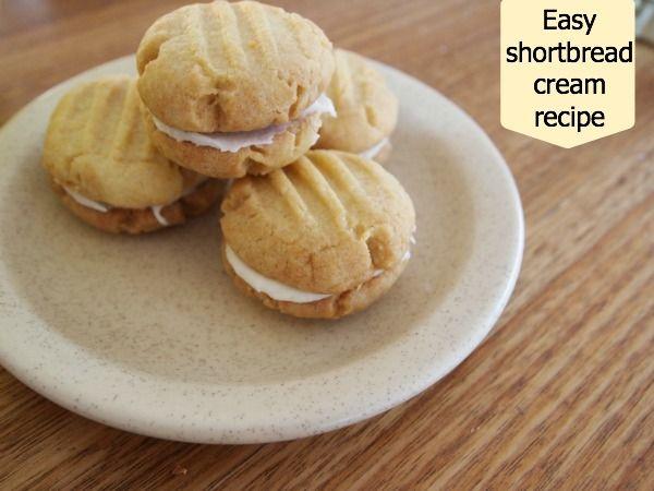 An easy shortbread cream recipe : YUM!