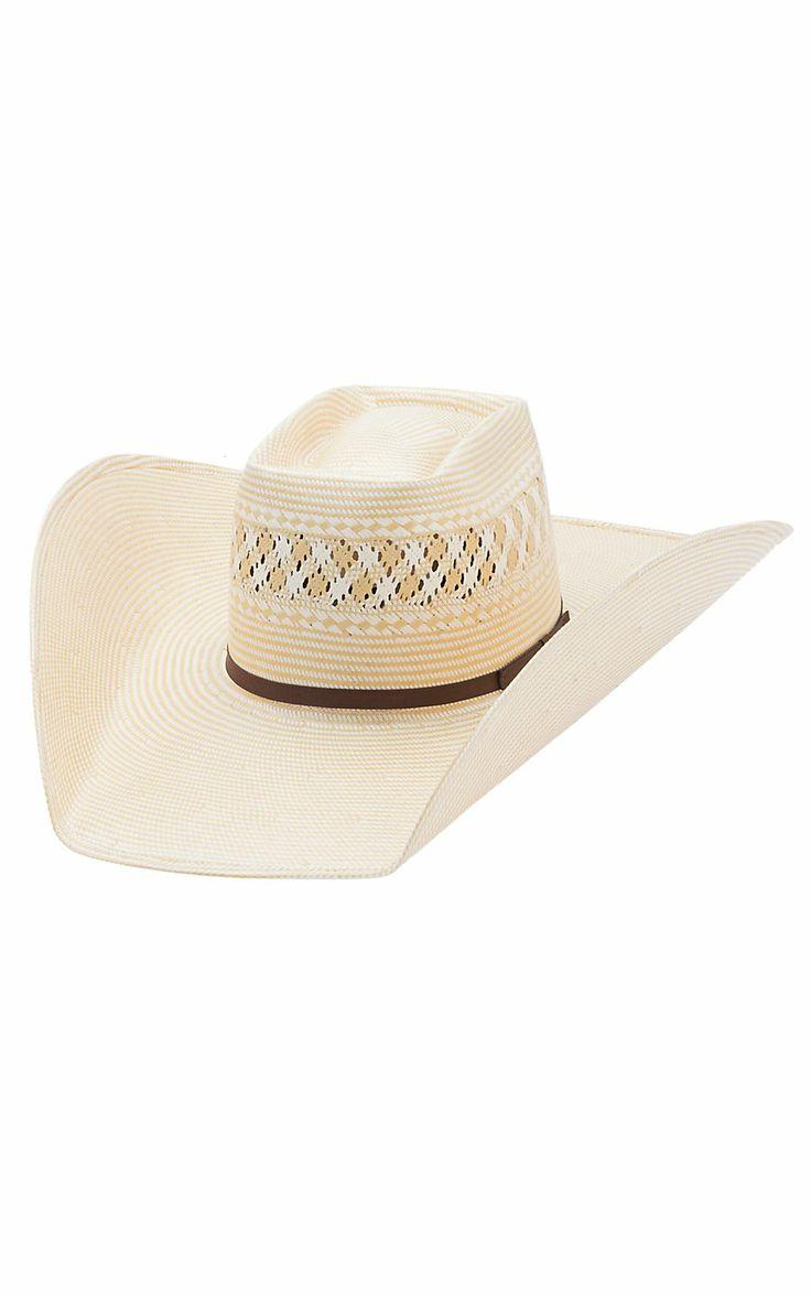 American Hat 15x Two Tone Vented Brick Crown Shantung Straw Cowboy Hat