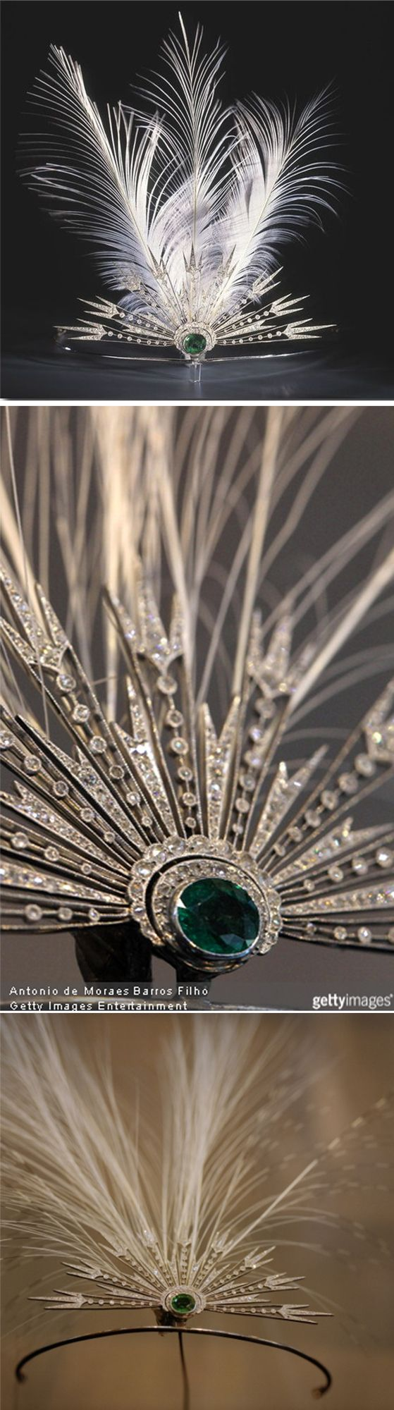 Diamond and emerald aigrette tiara by Chaumet