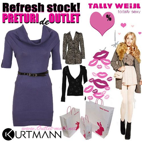 Rochie si alte articole de toamna-iarna totally sexy in outletul Tally Weijl, refresh stock | Outlet online