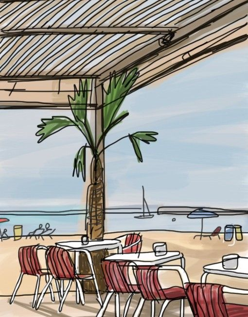 Mariscal Beach Illustration-barcelonaindesign.com
