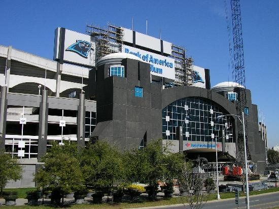 Bank of America Stadium Charlotte, NC. Home of The CAROLINA PANTHERS!  Been here.