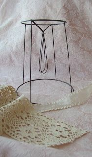 The 25 best wire lampshade ideas on pinterest quirky home decor today i like to share with you an easy way to cover a small lampshade i had a few lamp frames made out of metal wire and i would like greentooth Choice Image