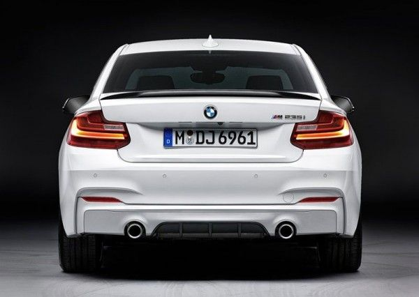 2014 BMW 2 Series Coupe with M Performance Parts Rear View 600x426 2014 BMW 2 Series Coupe with M Performance Parts Review and Design