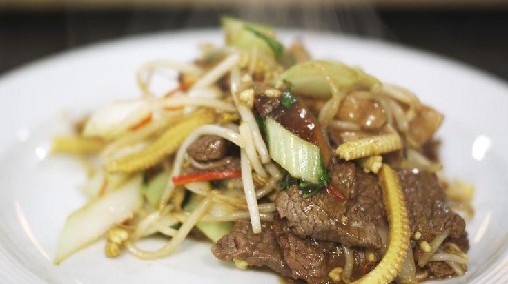 Wok met rundvlees, teriyaki en sesam | Dagelijkse kost