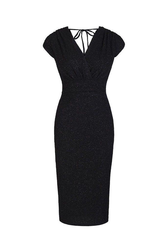 Black Bodycon Sleeveless Glitz Wiggle Dress