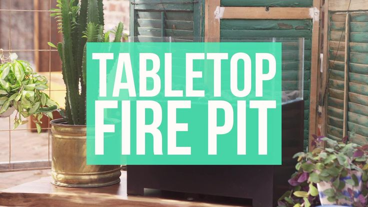The warmth of a fire pit will instantly cozy up any outdoor room. If space is an issue, make this tabletop version. It's easily customizable to fit any table, yet just as beautiful as a full-size one.