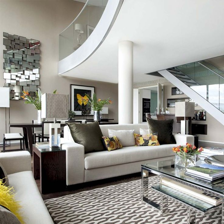 Elegant Open-plan living room design ideas ~ http://www.lookmyhomes.com/open-plan-living-room-design-ideas/
