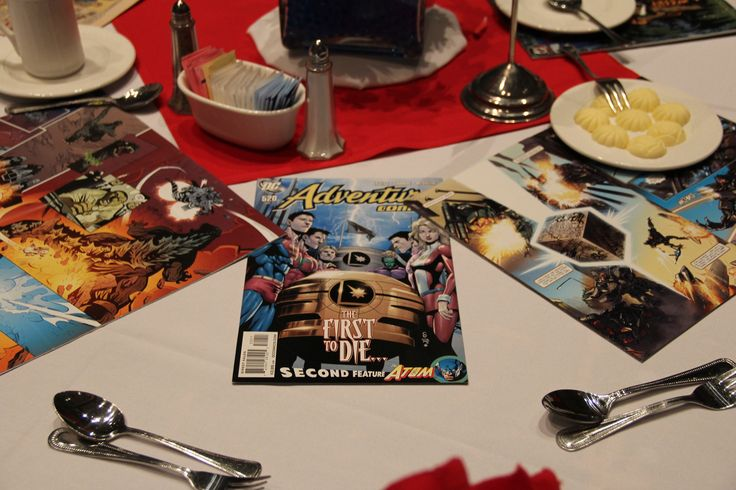 PISD Teacher of the Year 2013 banquet. Used comic books as table decorations. Cute and simple.