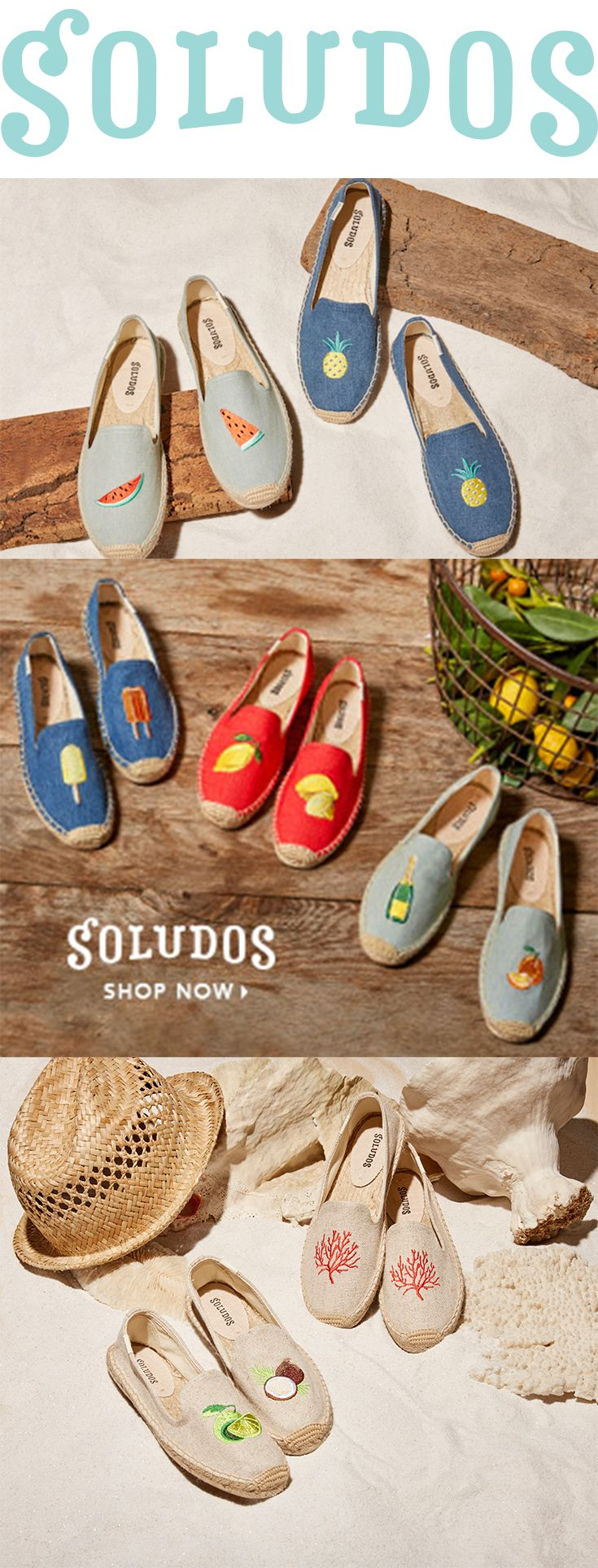 Take the best parts of Spring with you at all times. Shop our new Spring Collection now at Soludos.com