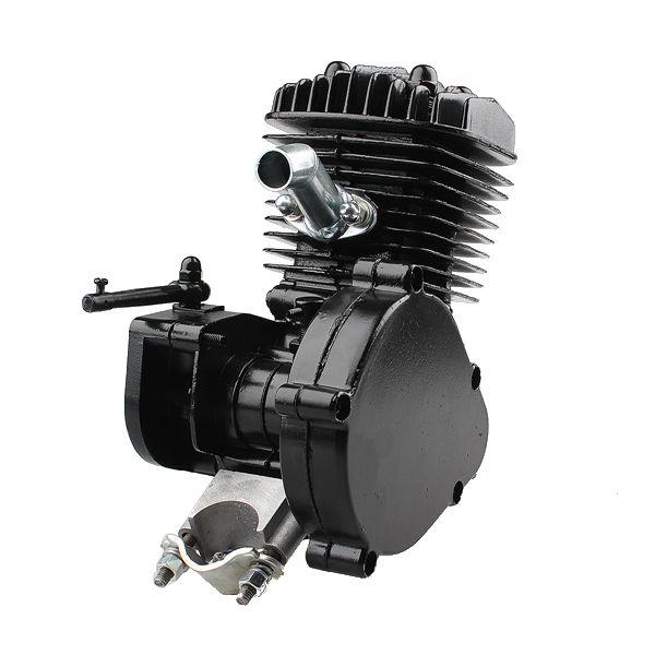 80cc 2-Stroke Cycle Motorized Bike Black Body Engine Motor Kit Sale - Banggood.com