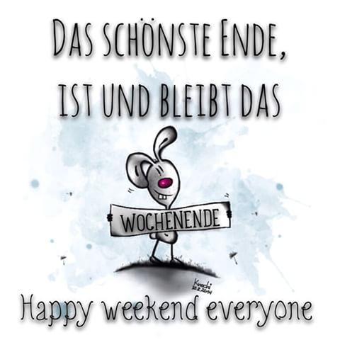 Das schönste Ende,ist und bleibt das #WOCHENENDE ✌️ happy weekend everyone