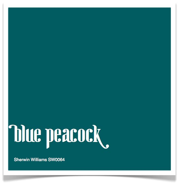 sherwin williams - blue peacock...New front door color soon hopefully!