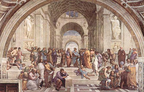De ontwikkeling van wetenschappelijk denken en het denken over burgerschap en politiek in de Griekse stadstaat ----> De Grieken begonnen met tragedies,filosofie, wiskunde, natuurkunde etc. Ook ontstonden er verschillende bestuursvormen: Aristocratie,democratie en monarchie. Filosofen discussieerden over deze vormen en dachten als eerste op een wetenschappelijke manier na over de mens en de natuur