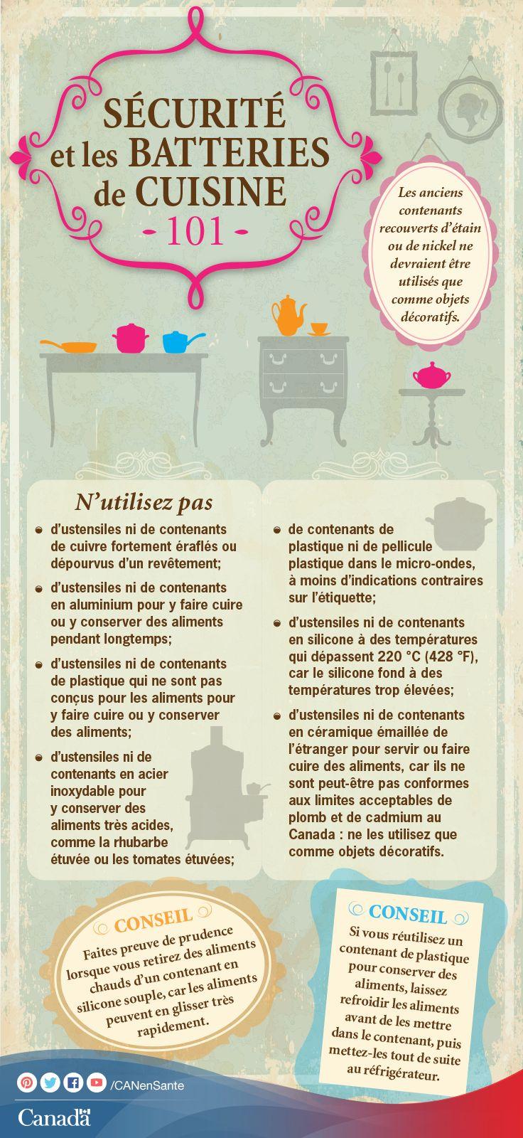 Découvrez les avantages et les risques de différentes batteries de cuisine :  http://canadiensensante.gc.ca/consumer-consommation/home-maison/cook-cuisinier-fra.php?_ga=1.101094533.525080773.1393857104utm_source=pinterest_hcdnsutm_medium=socialutm_content=June26_bakeware_FRutm_campaign=social_media_14