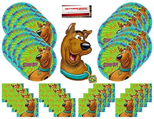 Scooby Doo Happy Birthday Party Supplies Bundle Pack for 16 (Bonus 14 Inch Balloon Plus Party Planning Checklist by Mikes Super Store) - http://partysuppliesanddecorations.com/scooby-doo-happy-birthday-party-supplies-bundle-pack-for-16-bonus-14-inch-balloon-plus-party-planning-checklist-by-mikes-super-store.html