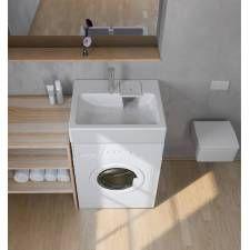 Lavabo gain de place, lavabo asymétrique, vasques gain de place - PlusDePlace.fr