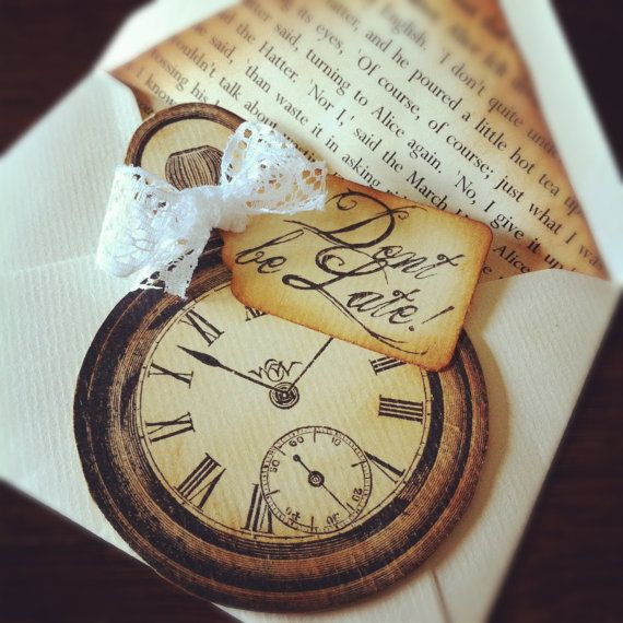 30 Printed Alice In Wonderland Inspired Save by LilLovebirdPaperie, £85.00
