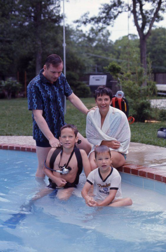 Neil Armstrong  Photos From the Apollo    Hero s Life and Career     The Mercury News Left to right are Neil Armstrong  Michael Collins
