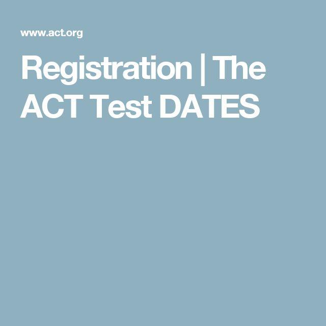Act registration dates