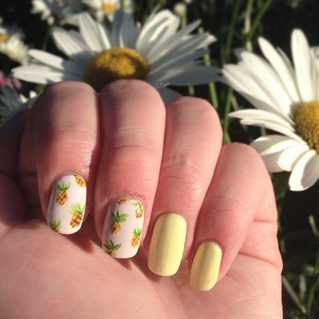 Pineapples! 🍍@nailsalwayspolished inspired me  #nailart #nailstoinspire #notd #motd #pineapple #🍍 #girly #cute #simple #nails #nailstagram #staypolished #inspired #nailartwow #nailpolish #polish #emoji #summer #summernails #mani #manicure