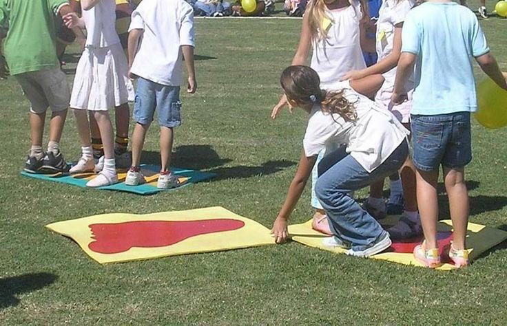 juego de las alfombras... destreza y cooperación
