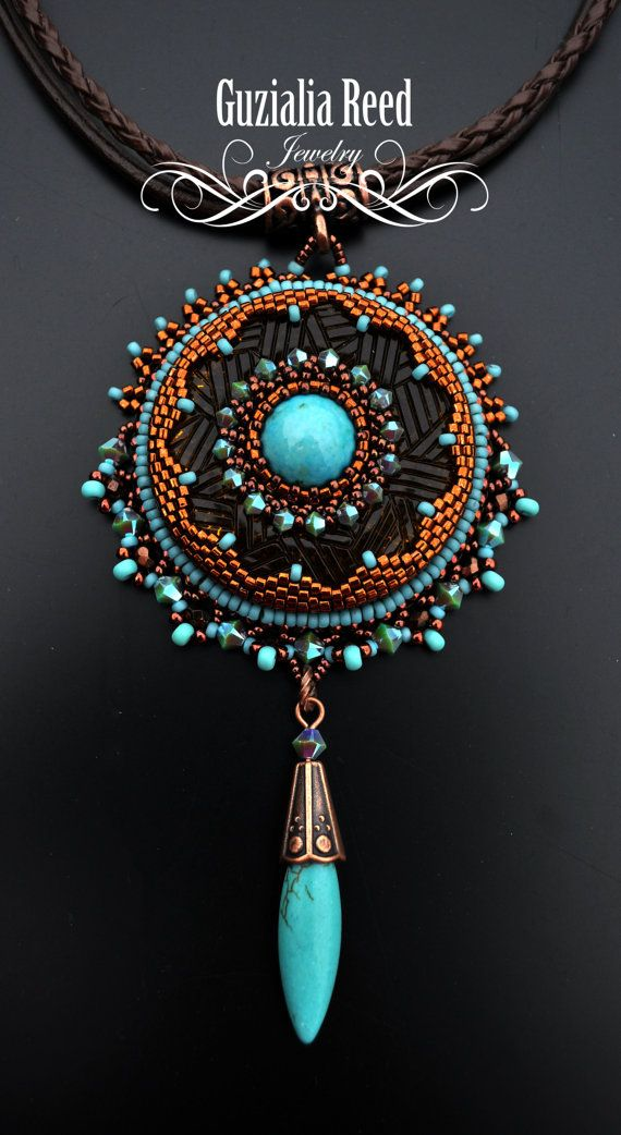 197 best beaded pendants images on pinterest beaded jewelry bead dream catcher mozeypictures Choice Image