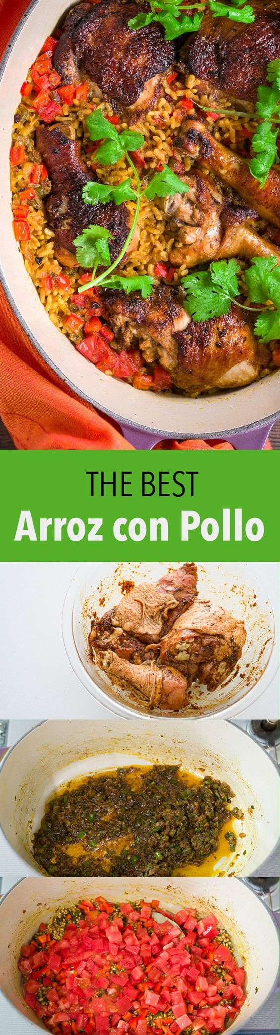 My tricks for making the BEST Arroz con Pollo (Chicken Rice), an easy and delicious one-pot meal.