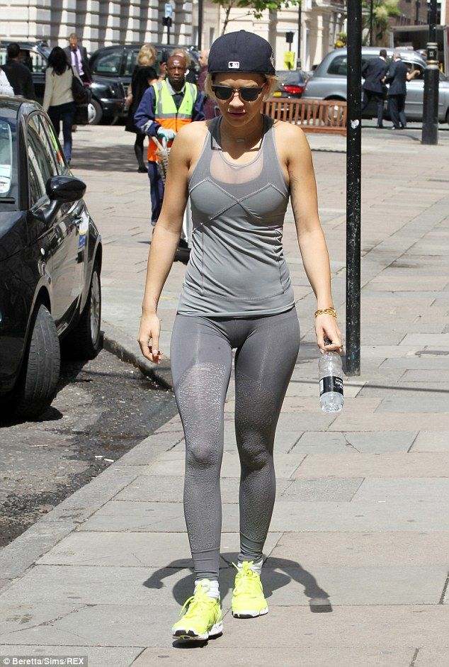 She work out: And she put the trainers to good use as she squeezed in a quick workout in t...