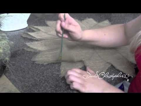 Want to learn how to make your own burlap door hanger?  Stephanie shows you how in this video!