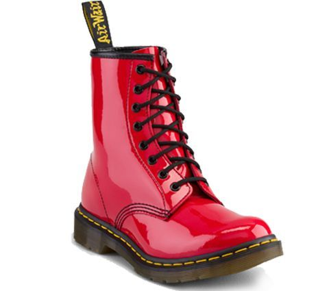 Image result for bright red doc martens