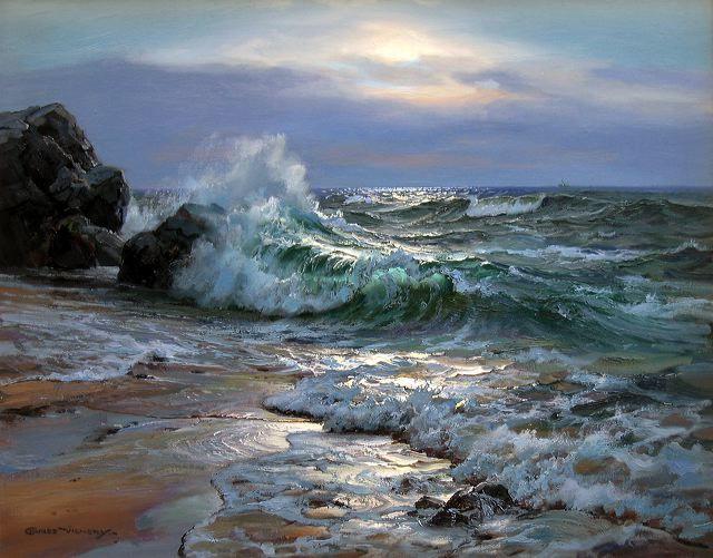 """Ocean Moonlight"" 24"" x 30"" Oil on Canvas"