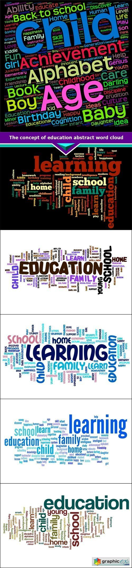 The concept of education abstract word cloud 6x JPEG  stock images