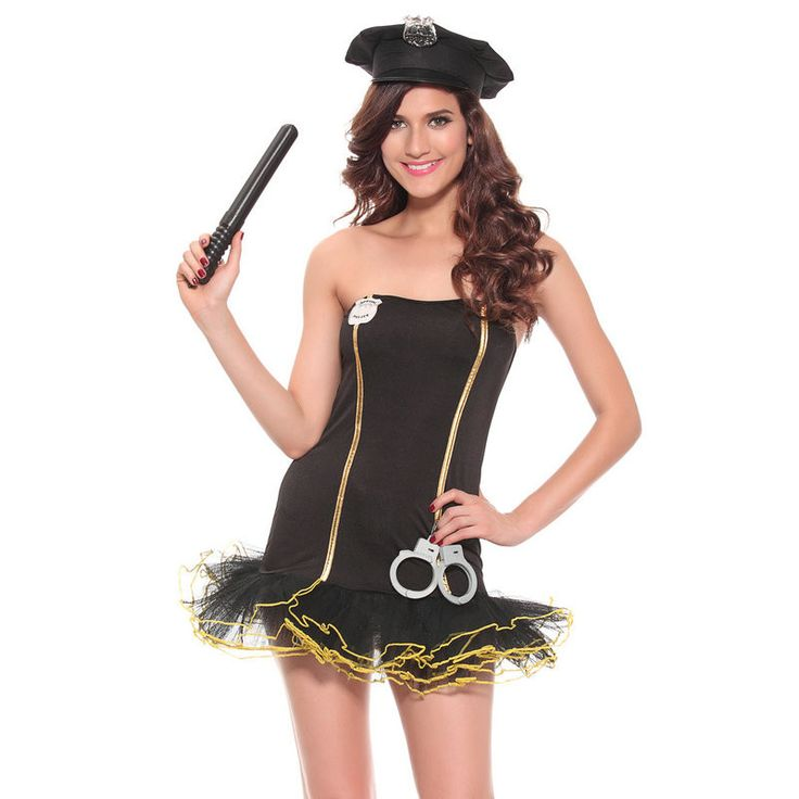 1 set new ladies police fancy halloween costume sexy cop outfit women cosplay sexy erotic lingerie police costumes for girls - Girls Cop Halloween Costume