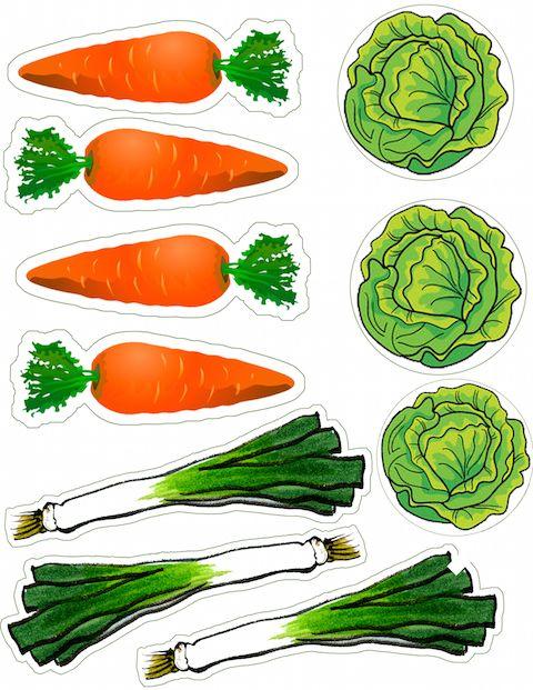 Vihanneksia kauppaleikkiin.