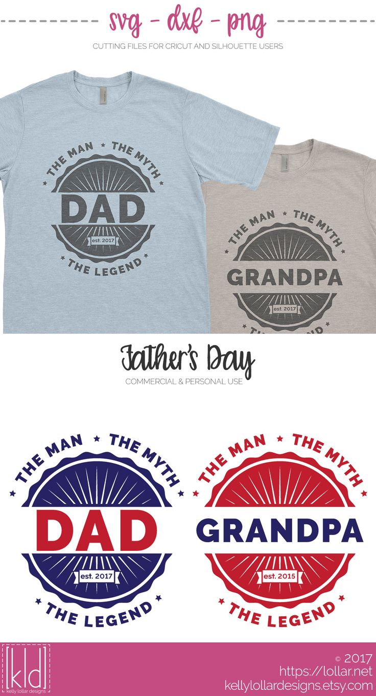 Download Father's Day SVG File - Dad - The Man The Myth The Legend ...
