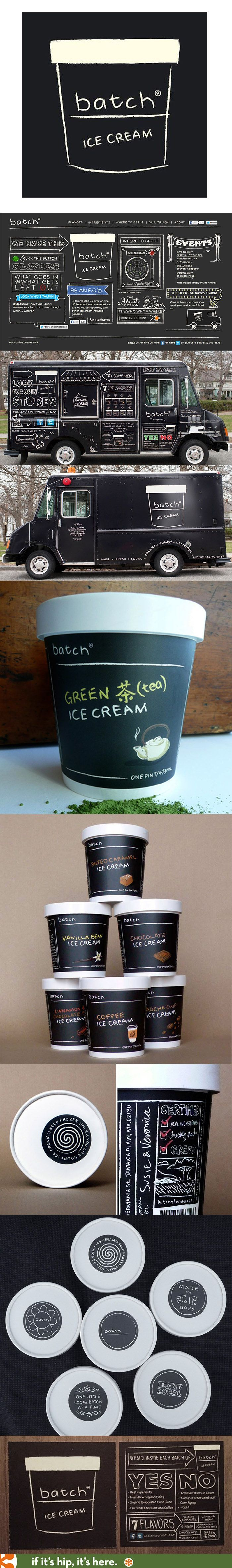 Branding, mobile truck, packaging and web design for Batch Ice Cream.