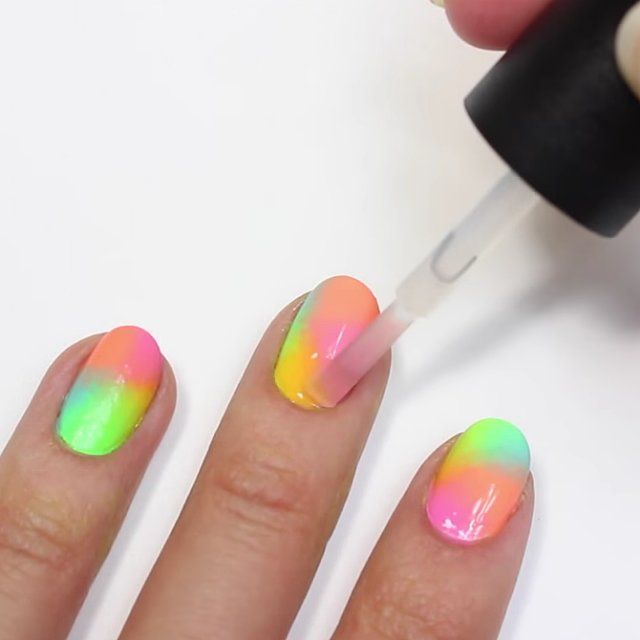 This Is the Easiest Neon Nail Art Tutorial You'll Ever Try: We have to admit — while we love looking at nail art tutorials, we have to really feel inspired to re-create them ourselves.